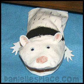 Ferret Puppet Craft From Www Daniellesplace Com Puppet