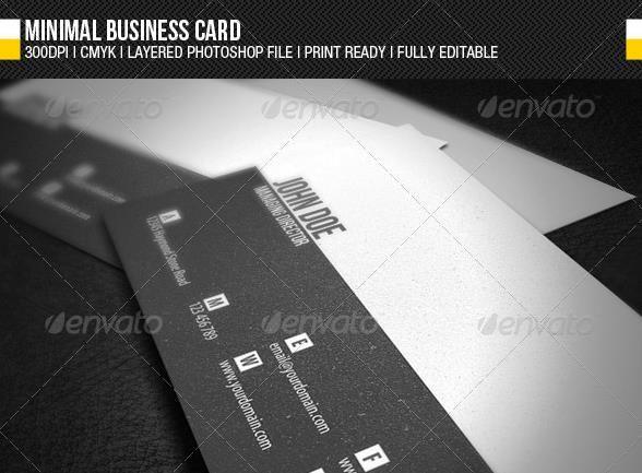 Desain Kartu Nama Perusahaan - Minimal Business Card