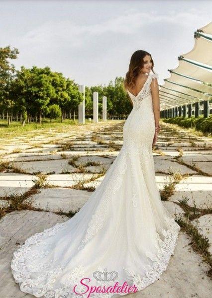 71b04b6147c2 abito da sposa a sirena in pizzo delicato collezione 2019 vendita  onlineSposatelier