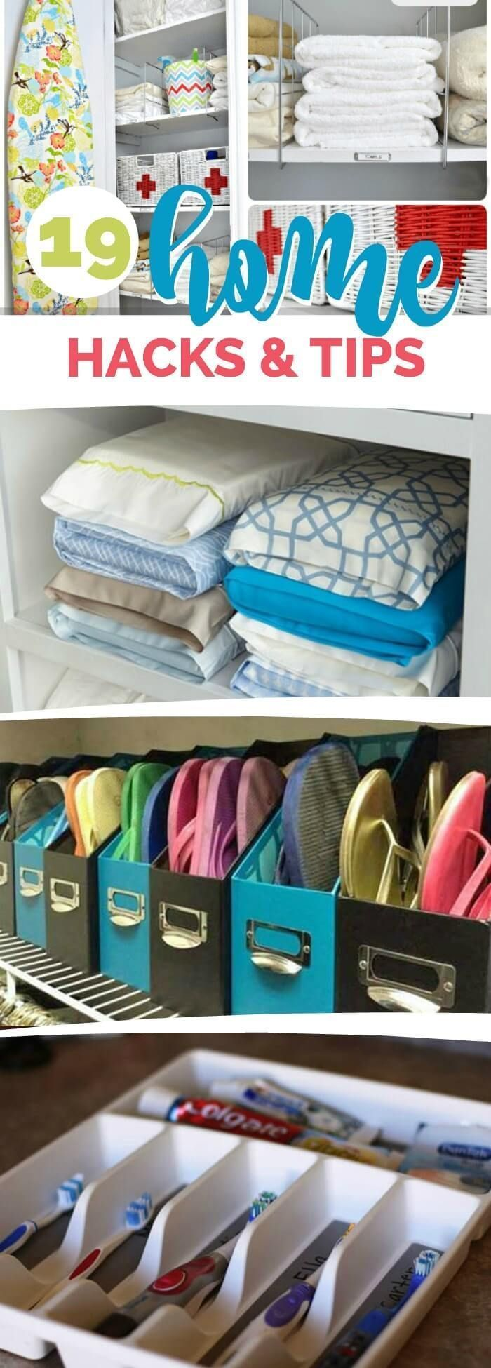Creative Organization: 19 Home Hacks and Tips to keep it neat and organized. Organization is key for a functional home