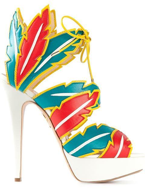 """Achetez Charlotte Olympia sandales """"Cherokee"""" en Cuccuini depuis les meilleures boutiques indépendantes boutiques du monde sur Farfetch. 1000 designers, 300 boutiques, un seul site."""