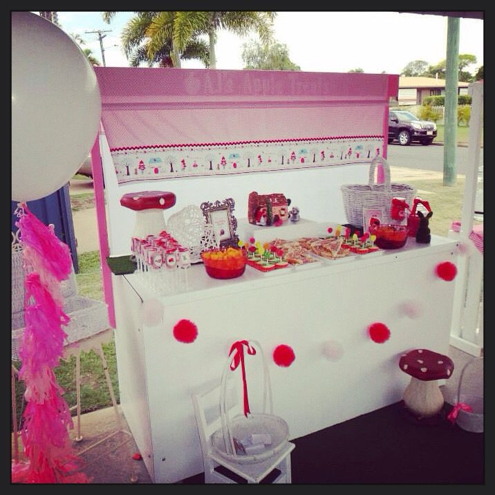 Dessert table, red riding hood birthday party