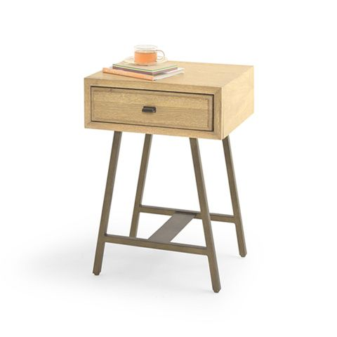 Campaign retro style bedside table