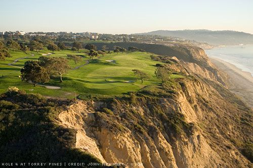 Torrey Pines, La Jolla, CA. Locals play for $50, non-local $165! Epic course.