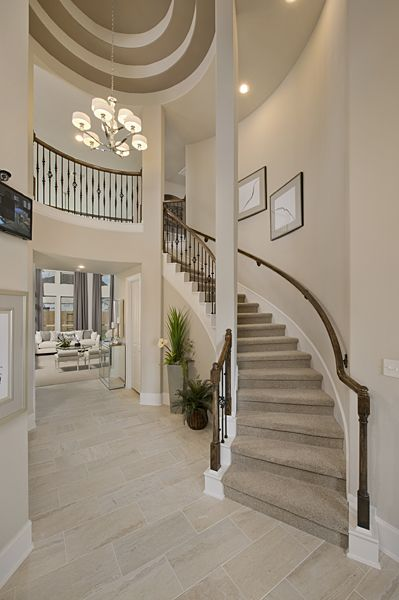Westin Homes Bridgeland New Homes Houston The Hopkins Entry Rotunda Ceiling Wrought