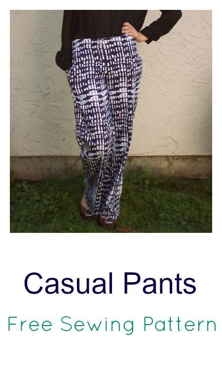 Casual Pantw:  free pants pattern for women.  On the Cutting floor.  FREE…