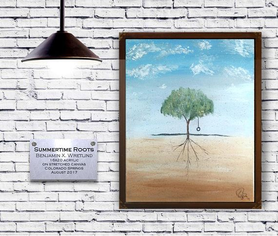 Summertime Roots A 16x20 Whimsical Acrylic Abstract Painting Etsy In 2020 Painting Abstract Painting Artist Painting