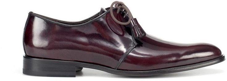 Мужские бордовые туфли