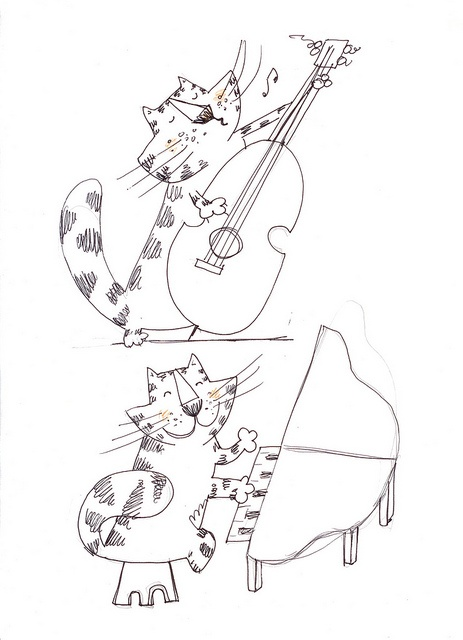 musical catsMusicals, Cat Music, Music Art, Music Cat