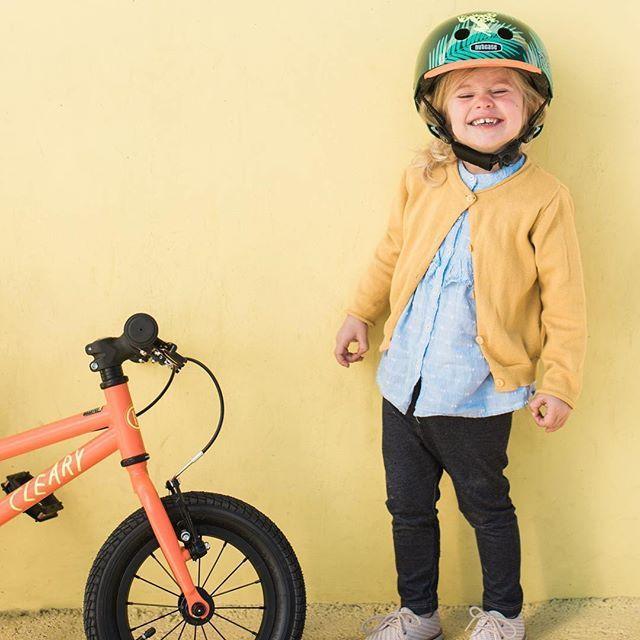 "Cleary Bikes  Nutcase helmets = awesome combo! RepostBy @nutcasehelmets: ""New Dart Frogs Little Nutty helmet. New Bike. All smiles.  . . . . . . . . . .  #ilovemybrain  #nutcasehelmets #clearybikes #littlenutty #helmet #bikelife #kidlife #bikes #bikestagram #bikesofig #kidsofinstagram #allsmiles"""