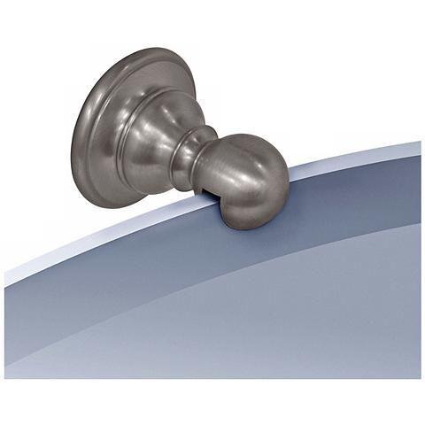 Gatco Oldenburg Satin Nickel Finish Oval Wall Mirror - #P6590 | Lamps Plus
