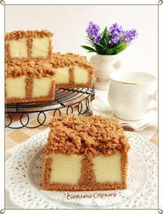 Бисквит с ванильным пудингом