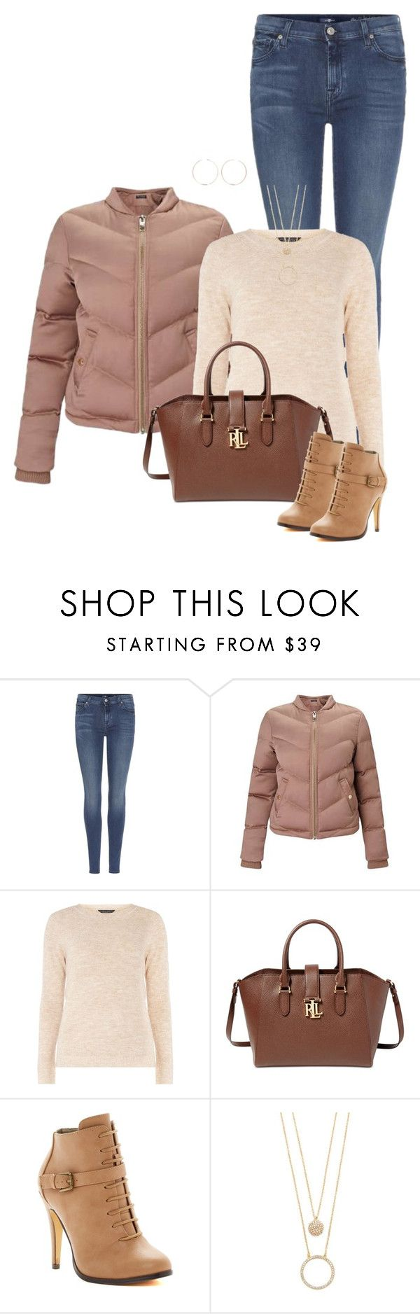 """Puffer"" by ksims-1 ❤ liked on Polyvore featuring 7 For All Mankind, Miss Selfridge, mel, Lauren Ralph Lauren, Michael Antonio, Kate Spade and Anita Ko"