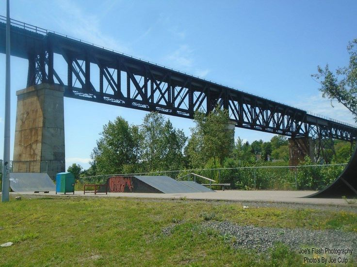 The Seguin River Train Trestle in Parry Sound august 6, 2017