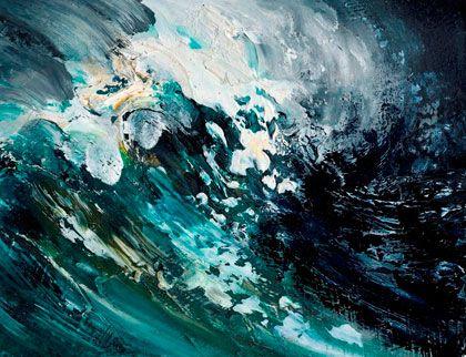 """Wave curling"" by Maggi Hambling."