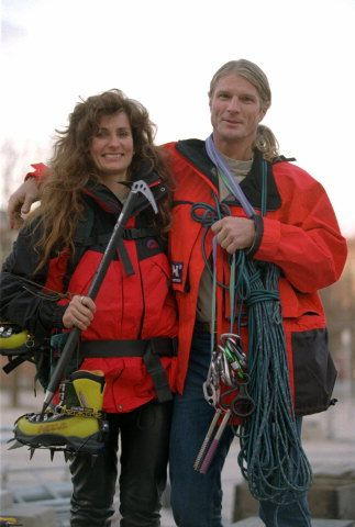 Lene Gammelgaard - First Scandinavian (Dane) woman to reach the summit of Everest 1996. Pictured with Scott Fisher
