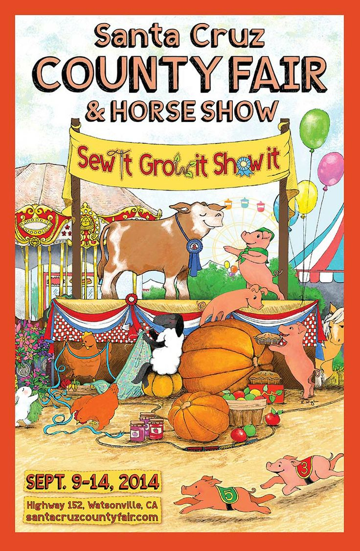 4 h poster designs - Fair Poster 2014 Sew It Grow It Show It Banner Ideas4 Hcounty