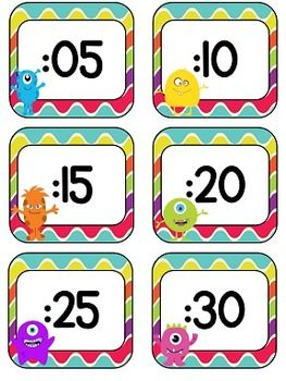 These adorable clock numbers will go great with any monster theme classroom décor! Simply print, cut out, laminate, and tape to the wall around your clock to help your students learn how to tell time! $