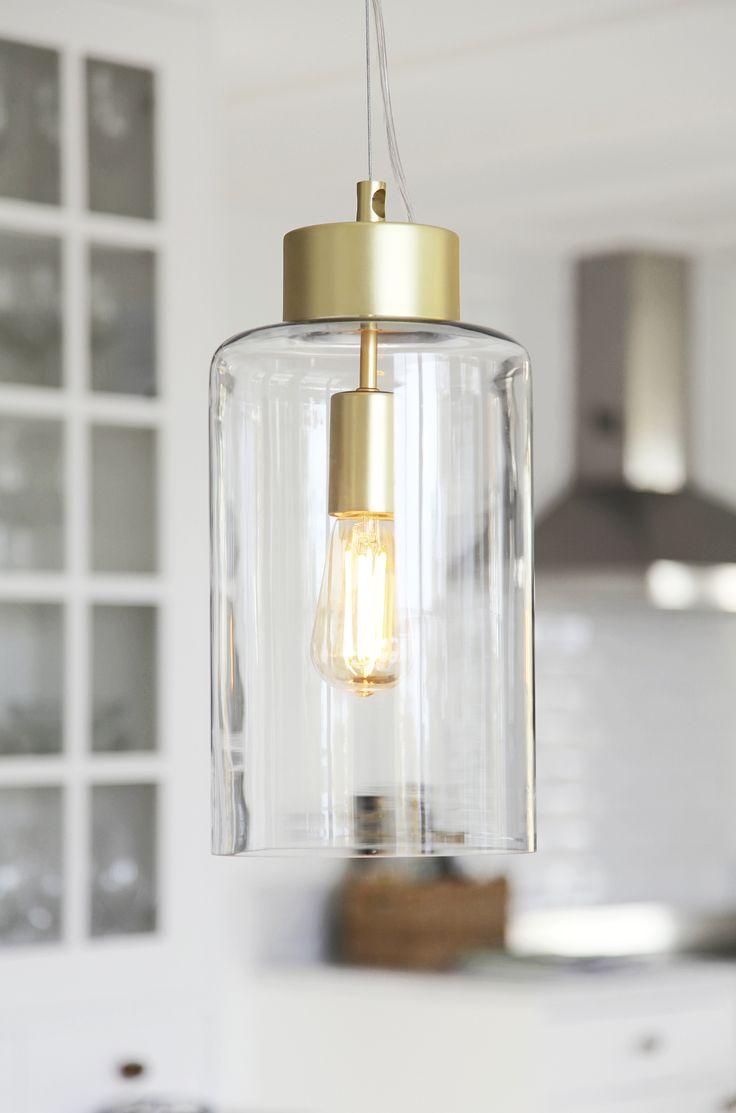 Silica hanginglamp in brass.  Silica taklampa i mässing.