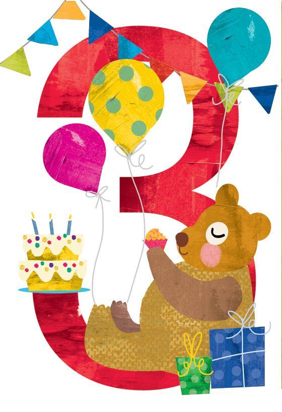 third triply tremendous  birthday card free  greetings