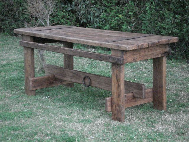 Kitchen Table from Old Wood Door....maybe a craft table or work station