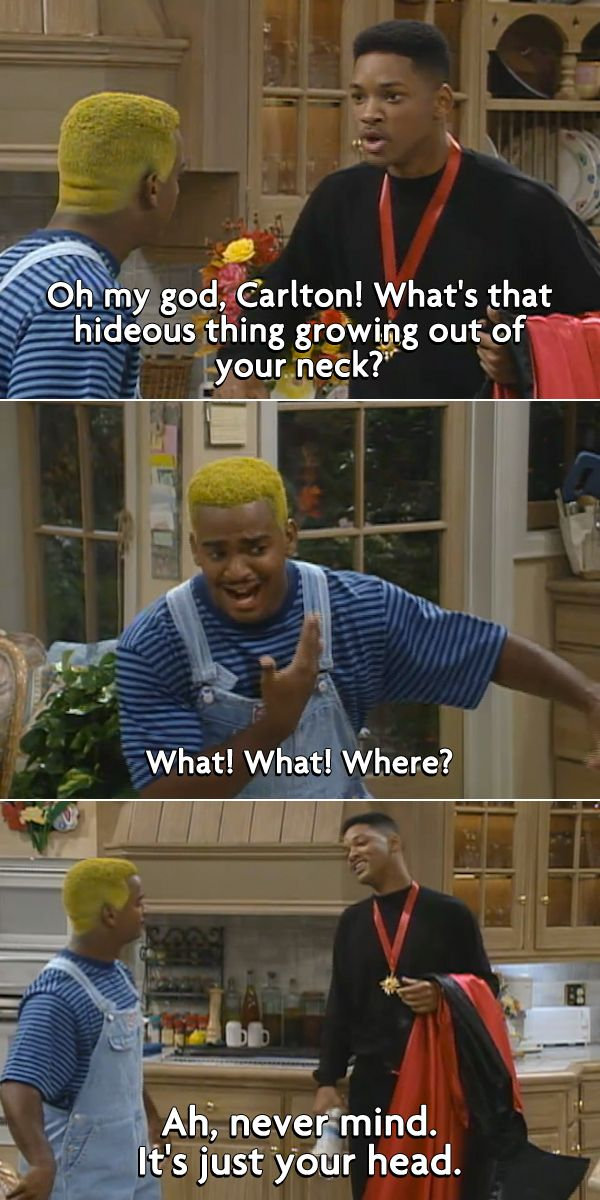 The Best Insults from '90s Kids' TV Shows... Love Fresh Prince of Bel Air...