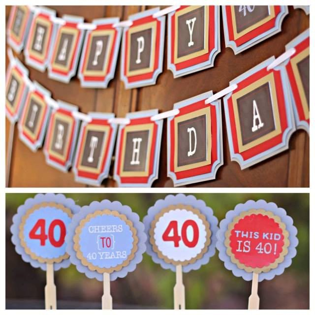 Image of: Paul Rudd 40th Birthday 50th Birthday 60th Birthday 70th Milestone Birthday Party Decorations Cheers Beers This Kid Is 40 Banner Cupcakes Pinterest Best This Kid Is 40 Party Images On Pinterest 40 Birthday