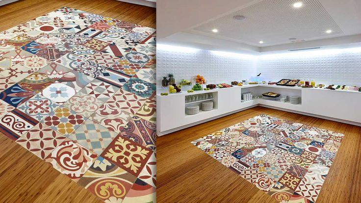 Hexagon Moroccan encaustic floor tiles mosaic bathroom Manchester