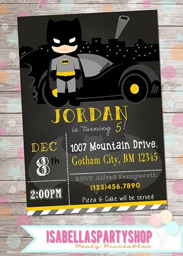 batman_inspired_birthday_invitation-batman_party_digital_diy_invite__e7928756_800705.jpg 357×500 pixels
