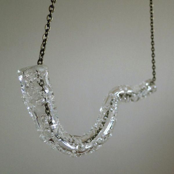 bubble plexi necklace  Ela Piętak