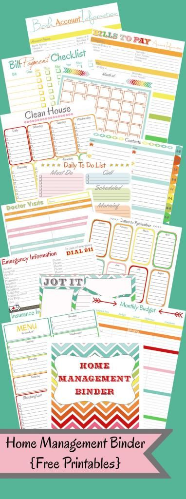 DIY:  Home Management Binder - Free Printables - WOW!  This is the most complete organizational system I have found!  It has everything - even a password log!