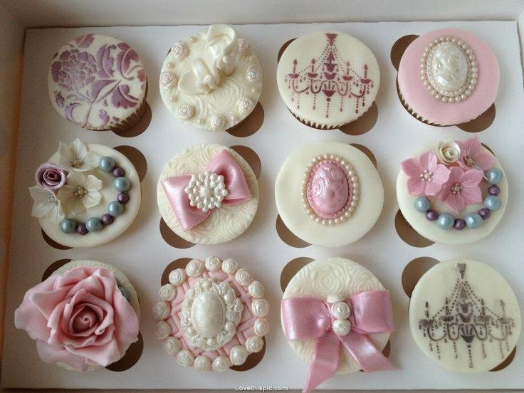 Victorian Cupcakes vintage pretty cupcake dessert victorian decorate bake