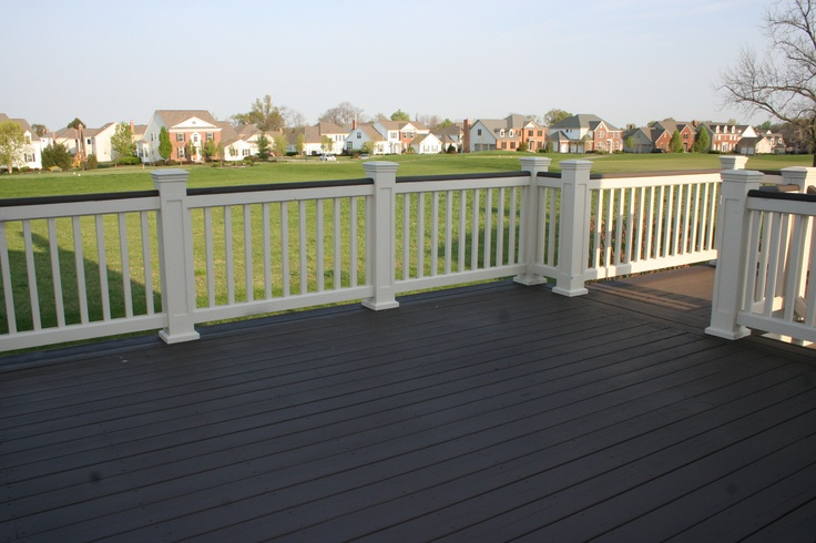 Great Two Tone Deck Over Looking The Golf Course Some
