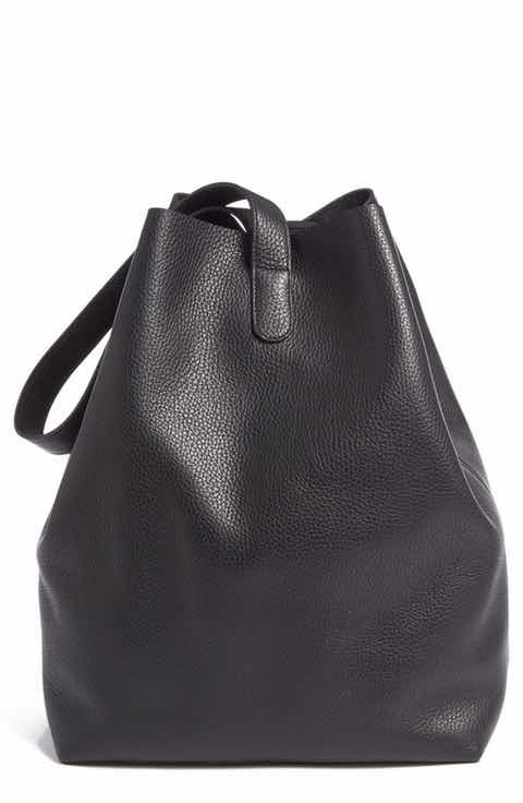 Creatures of Comfort Large Pebbled Leather Apple Bag