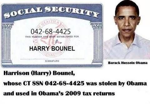 Barack hussein obama social security number