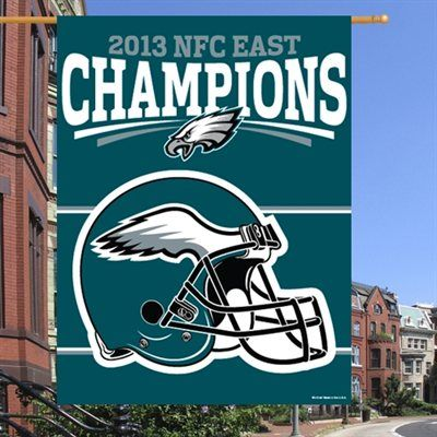 Philadelphia Eagles 2013 NFC East Division Champions 27'' x 37'' Vertical Banner
