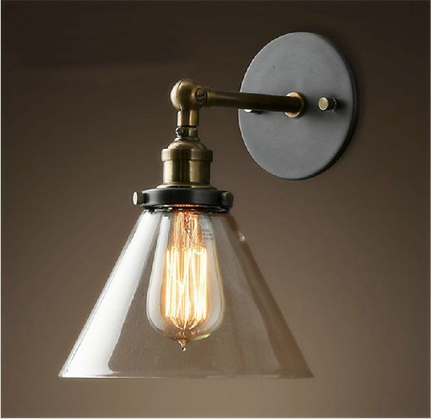 Best 25 wall lamps ideas on pinterest wall lighting modern vintage industrial modern contemporary glass sconce funnel wall lights wall lamp aloadofball Image collections