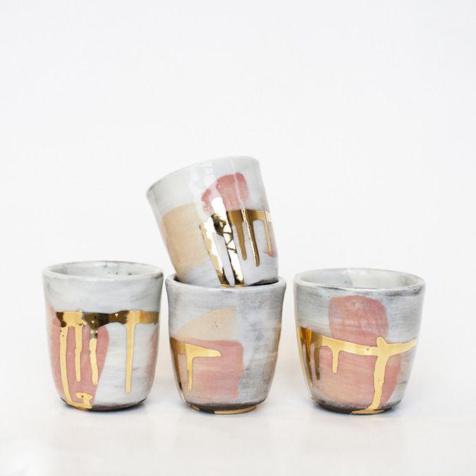 Handmade ceramic mugs by Design by No.