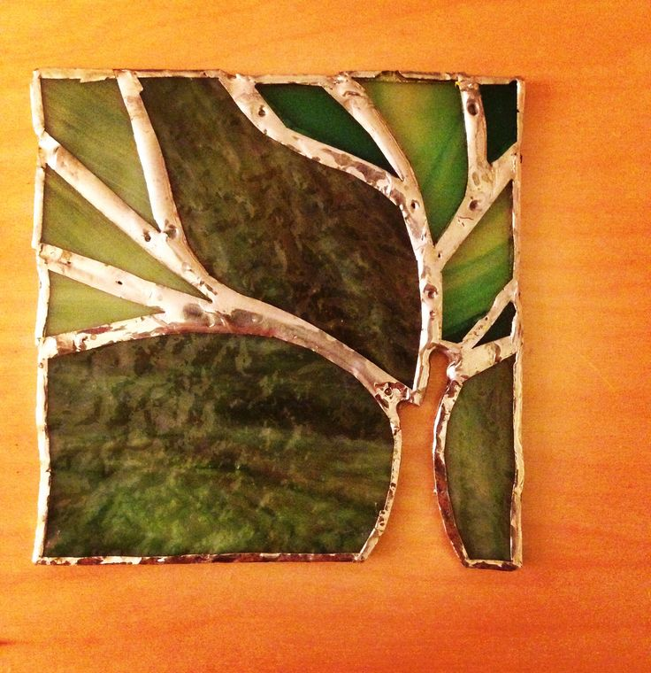 Tree stained glass design. Copper foiled