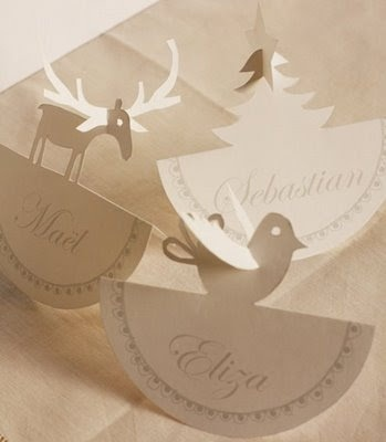 Claverie Cruising: Christmas Dinner Prep: Place Card Holders