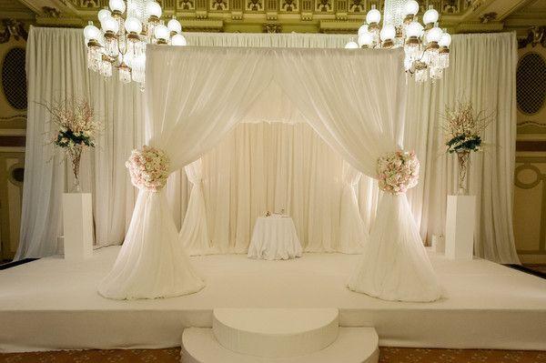 Elegant Drapery At Indoor Ceremony: 1000+ Images About Wedding Ceremony Decor On Pinterest