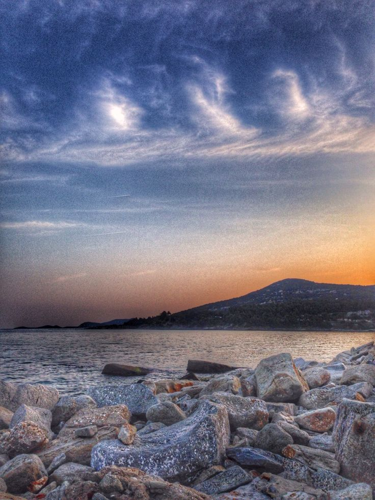 Sunset,sea,clouds,Lucy,Kavala,Greece