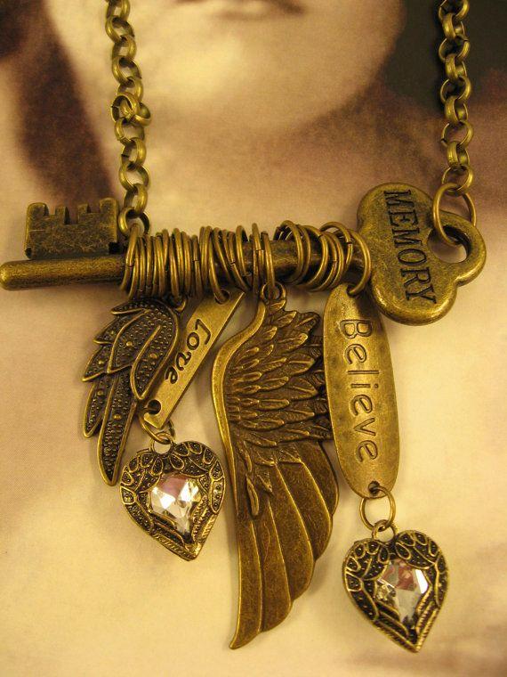 SALE Handmade Junk Gypsy Style Necklace by AlyssaGemsAndJewels, $45.00