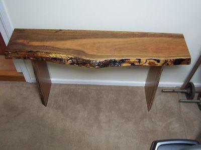 IRONBARK Hardwood timber slab - hall table / stand - side board / table - NEW