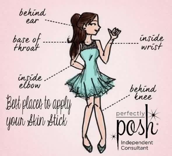 Posh skin stick guide https://www.perfectlyposh.com/christinevelazquez/