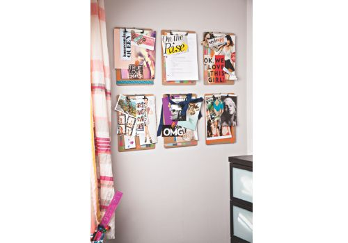 Pinterest Clipboard Wall Hang Clipboards In A Grid Of Six