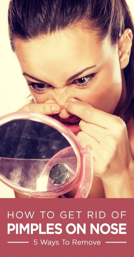 Wie Pickel auf der Nase loswerden