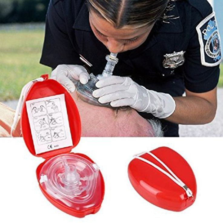 CPR Mask Protect Rescuers Artificial Respiration Reuseable With Disposable One-way Valve Airtight Seal to Face First Aid Kit