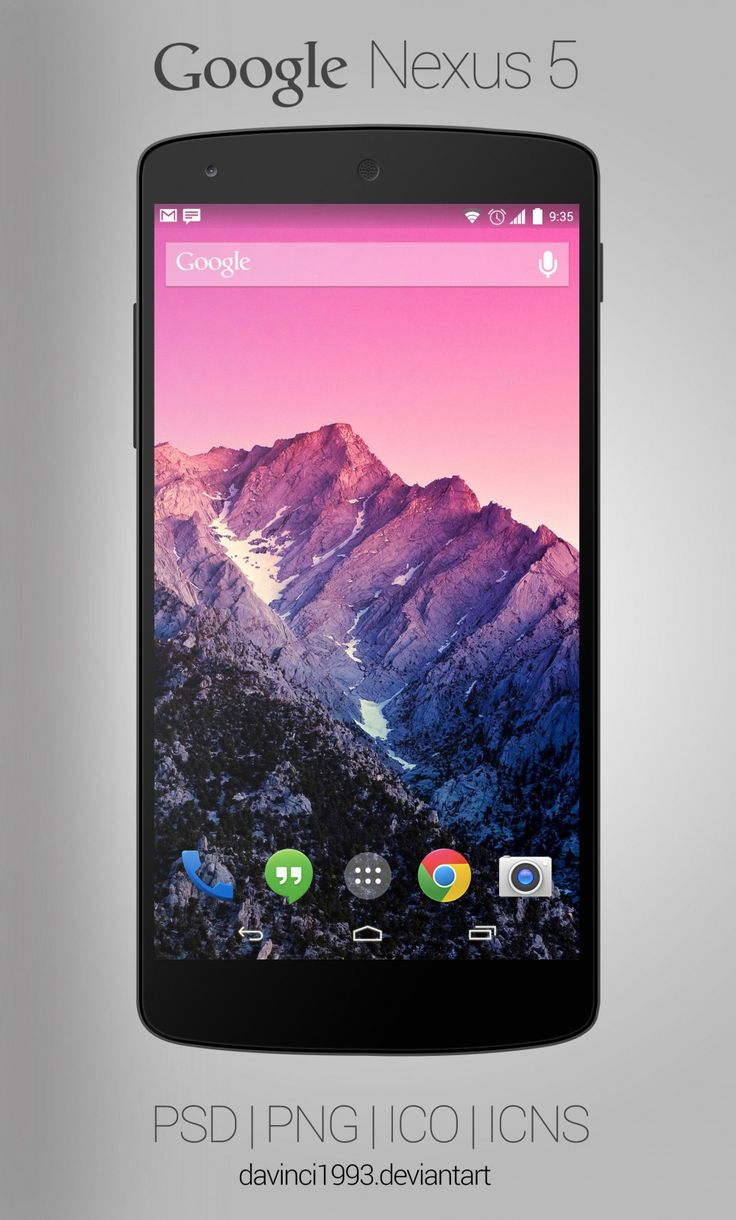 Google Nexus 5: Psd  Png  Ico  Icns, #free, #