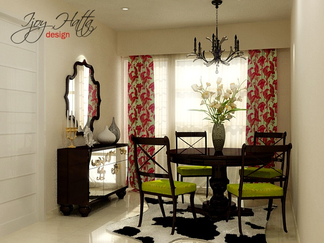 dining room with an eclectic style
